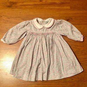 Beautiful Nursery Rhyme smocked dress - 9 mo